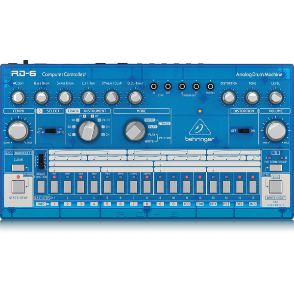 Behringer RD-6-BB Analog Drum Machine (Baby Blue),fastrak-sa.
