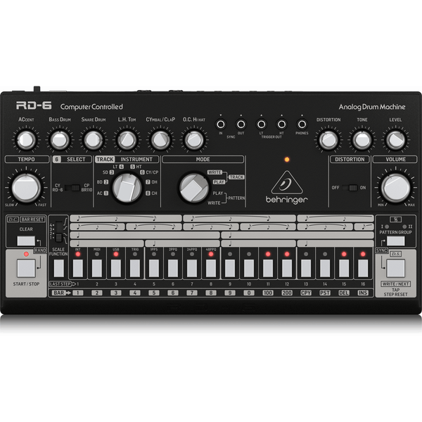 Behringer RD-6-BK Classic Analog Drum Machine (Black),fastrak-sa.