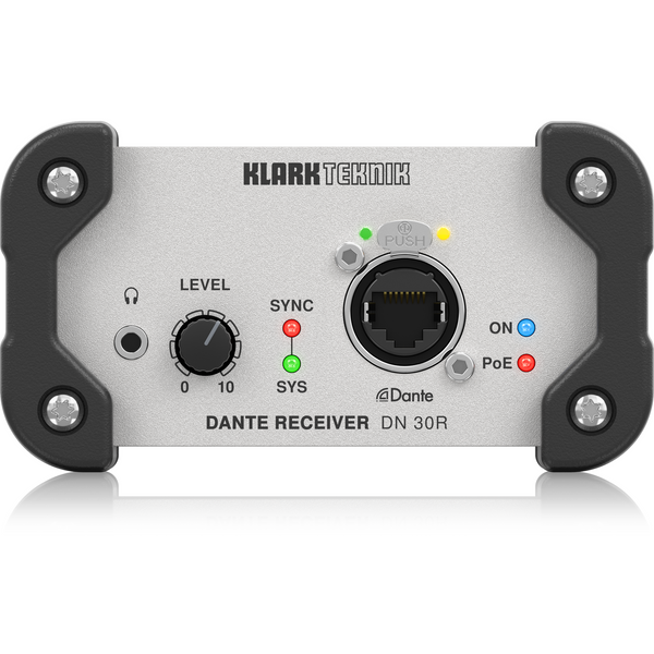Klark Teknik DN 30R Two-Channel Dante Audio Receiver