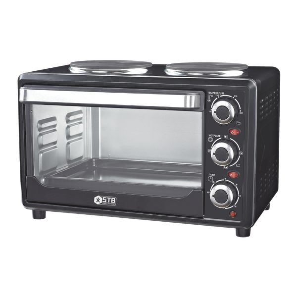 STB 25L Mini Stove With 2 Hotplates /Oven [CZ23A-HW],fastrak-sa.