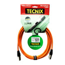 Tecnix TMC-5M -NK OR XLR(M)-XLR(F) Mic Cable Orange