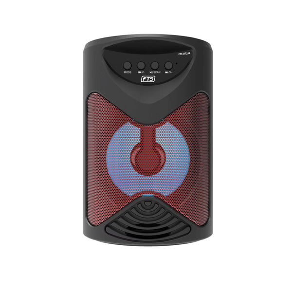 "FTS Z'yakhipha Mini 4"" Portable Bluetooth Speaker Red,fastrak-sa."