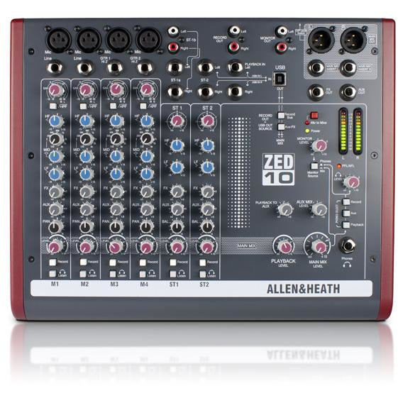 Allen & Health ZED 1002 10 4 Mic/Line 2 Stereo Ch 2 Aux Rotary USB Mixer (4502961651779)