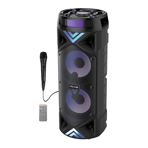 "FTS-2106 Double 6.5"" Portable Bluetooth Speaker (4397758054467)"