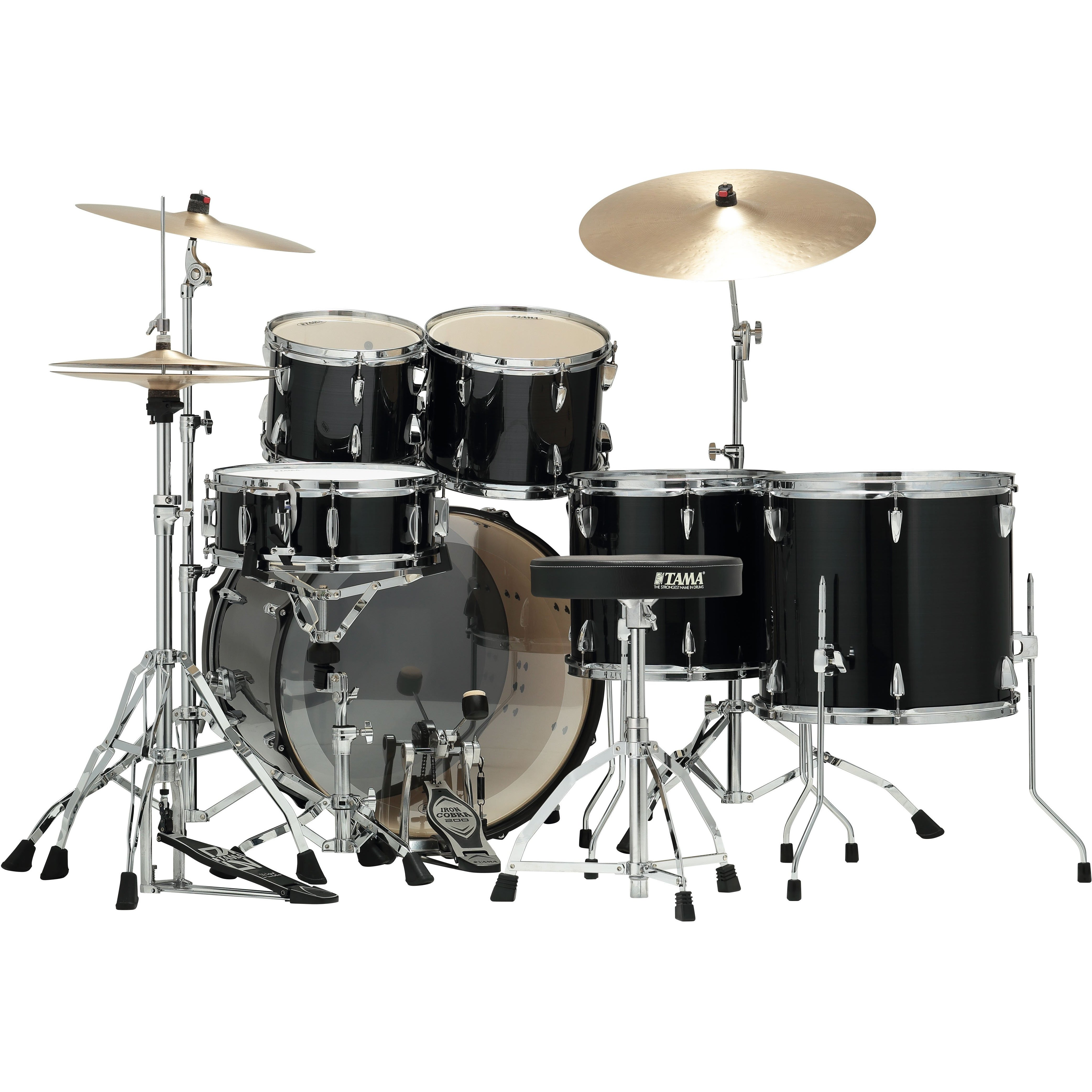 Tama Imperialstar  Drum Kit Hairline Black w/ Chrome Hardware