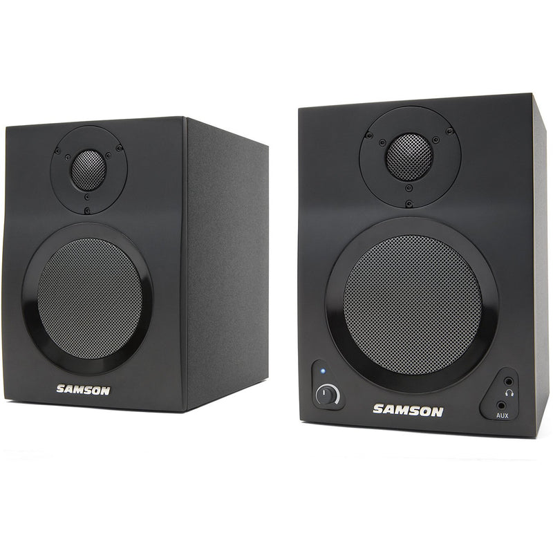 "Samson MEDIA ONE 4A BT Active studio monitors with Bluetooth,40 watts,4"" woofer (4173645250627)"