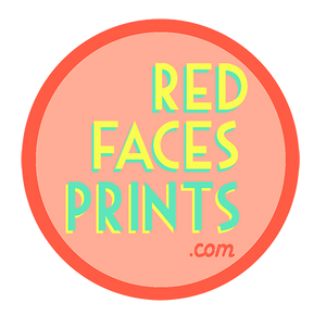 Red Faces Prints