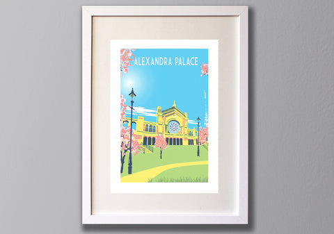 Alexandra Palace Art Print Framed