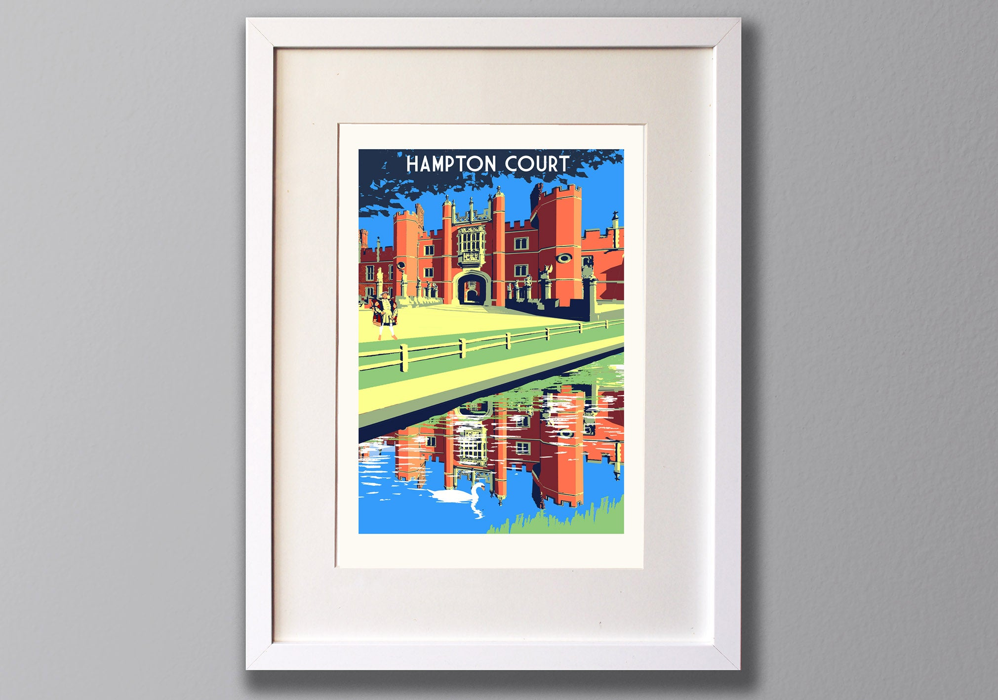 Hampton Court Screen Print, A3 Location Art Illustration