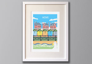 Hove Screen Print, Framed by Red Faces Prints