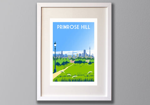 Primrose Hill Screen Print, London Location Art Print