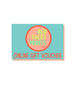 Gift Card for Red Faces Prints - Red Faces Prints
