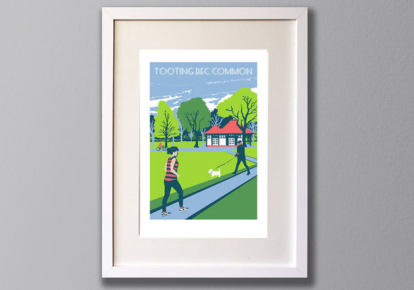 Tooting Bec Common - A3 Giclee print - Herne Hill Harriers Edition - (UN)FRAMED - Red Faces Prints