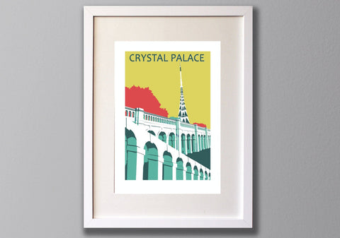 Crystal Palace Park Transmitter Screen Print, Limited Edition A3, London - Red Faces Prints