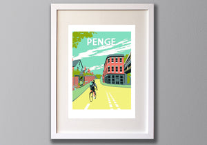 Penge Screen Print, Alexandra Nurseries & Pub Limited Edition Art - Red Faces Prints