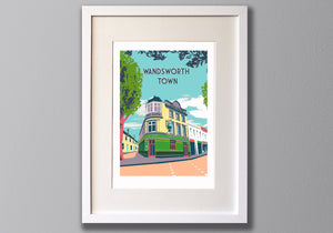 Wandsworth Town - A3 Giclee print - Limited Edition - (Un) Framed - Red Faces Prints