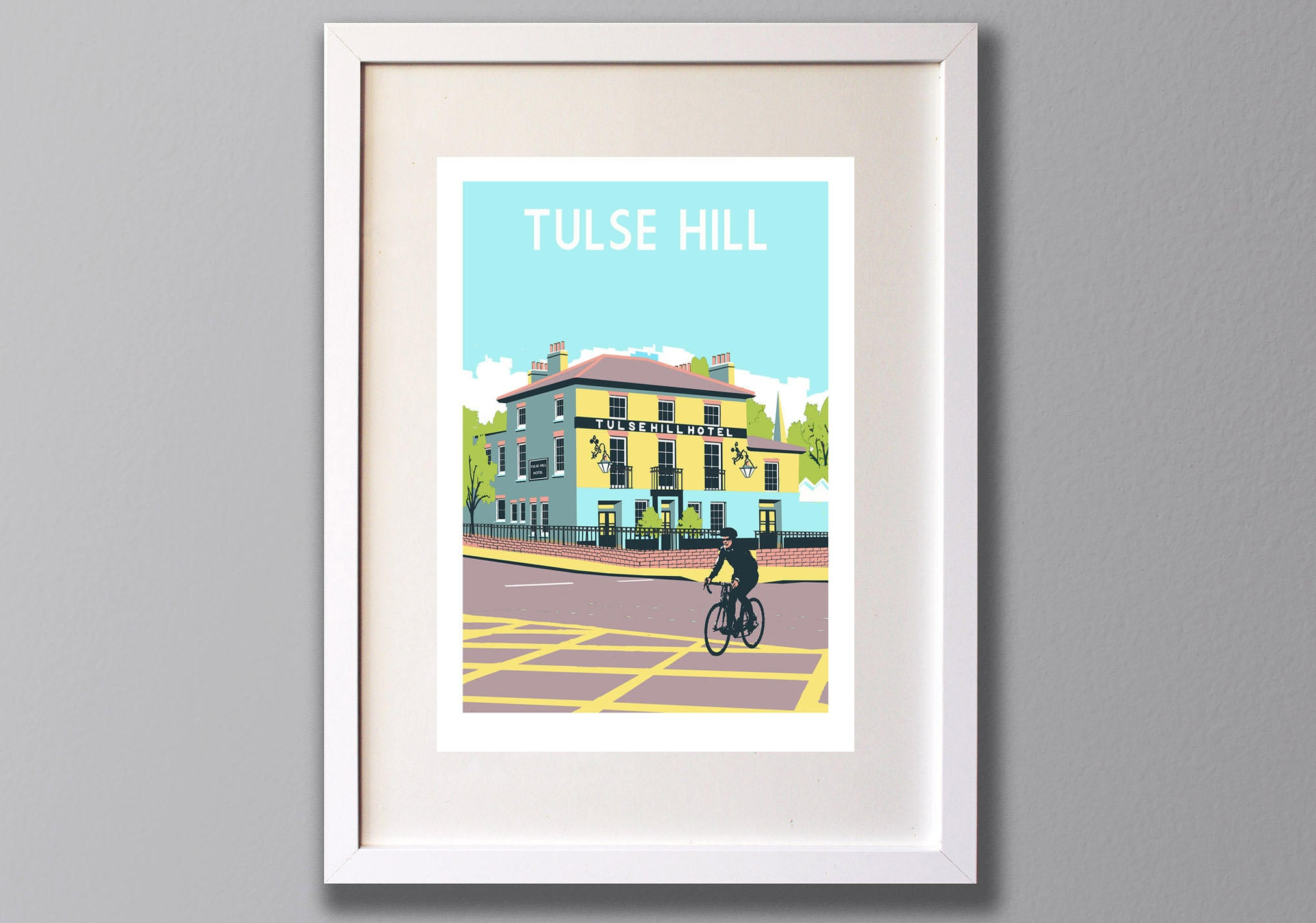 Tulse Hill, Limited Edition A3 Screen Print, South London, UK -  (UN)FRAMED Art - Red Faces Prints