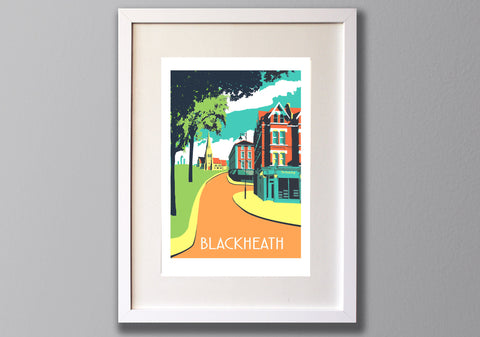 Blackheath Screen Print, A3 Limited Edition London Art - Red Faces Prints