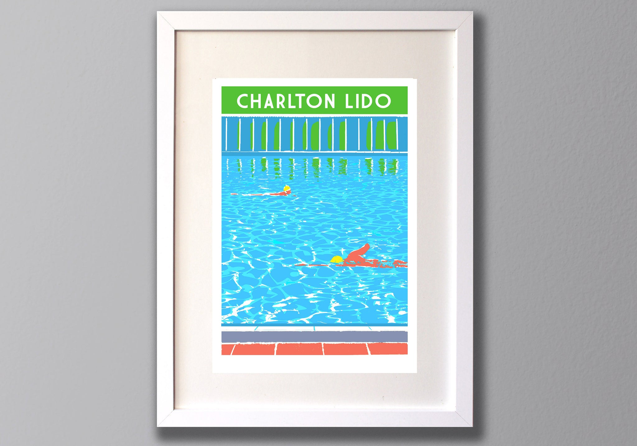 Charlton Lido print - Limited Edition A3 Giclee Art - Red Faces Prints