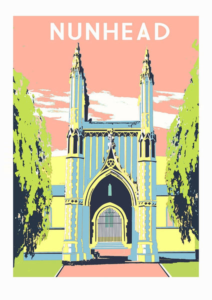 Nunhead Screen Print, Limited Edition Art A3 - Red Faces Prints