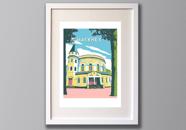 Hackney Round Chapel - A3 Giclee print - Limited Edition - (UN)FRAMED - Red Faces Prints