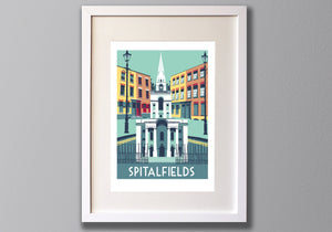 Spitalfields Screen Print - Limited Edition London Art A3 - Red Faces Prints