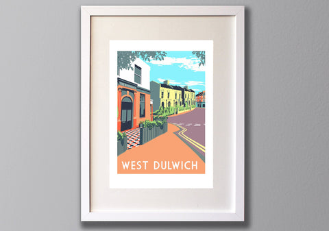 West Dulwich Screen Print A3 - Limited Edition - (Un)framed - Red Faces Prints