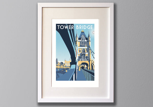 Tower Bridge, London - A3 Screen print - Limited Edition - (UN)FRAMED - Red Faces Prints