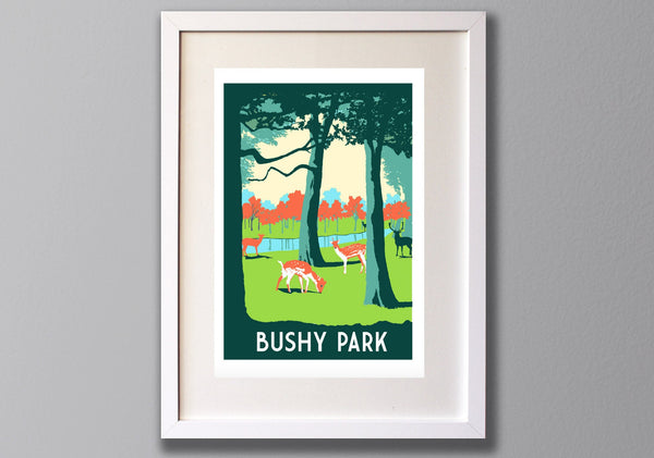 Bushy Park Giclee Print Limited Edition A3 Art - Red Faces Prints