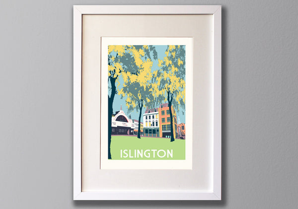 Islington Screen Print, A3 Limited Edition London Art - Red Faces Prints