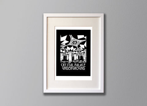 Crystal Palace Subway Screenprint -  Limited Edition London Art - Red Faces Prints