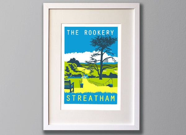 Streatham Common Rookery, South London - A3 Screen print - Limited Edition - (UN)FRAMED - Red Faces Prints