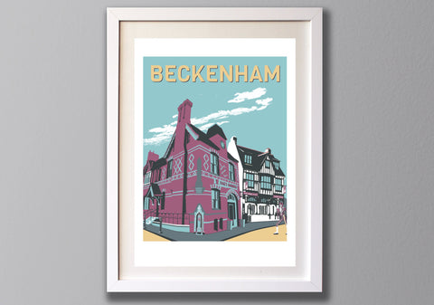 Beckenham Art Print - A3 Limited Edition Giclee - Red Faces Prints