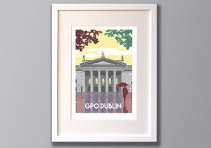 Dublin Print, Limited Edition A3 Giclee Art - Red Faces Prints