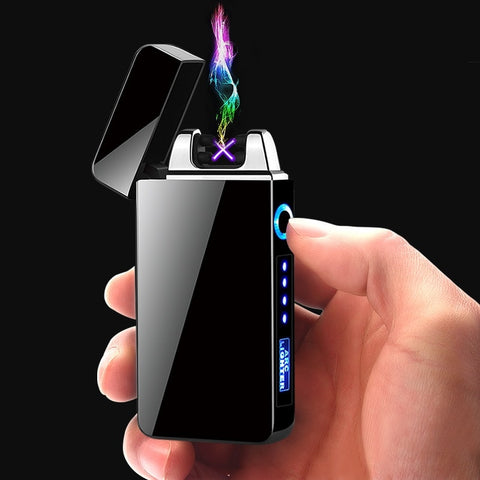 USB Electric Cigarette Lighter Finger print Touch Fire