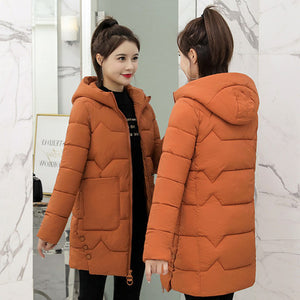 2019 Winter New Women Jacket Coats Slim Parkas Female Down cotton Hooded Overcoat Thick Warm Jackets Loose Casual Student Coat