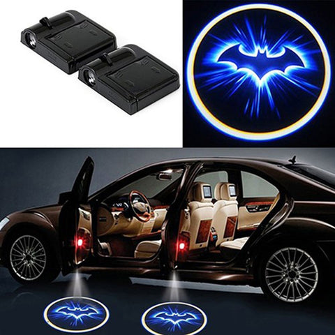Wireless Car Bat Logo Door Decor Light Shadow LED