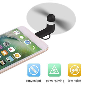 BinFul Mini Portable Cool Micro USB Fan Mobile Phone For iphone 5 5s 6 6s 7plus 8 X XR XS and Android phone