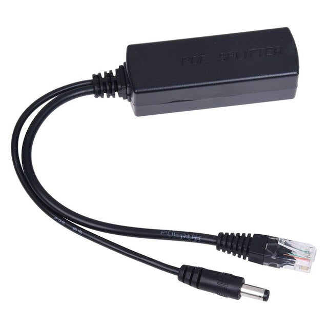 Power over Ethernet POE Splitter 10/100mbps 12V 2A POE Adapter for IP Cameras