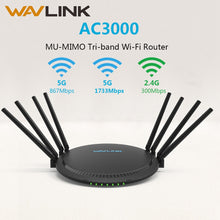 Load image into Gallery viewer, AC3000 MU-MIMO Tri-band Wireless WiFi Router 2.4G+5Ghz with Touchlink Gigabit Wan/Lan Smart Wi-Fi Repeater/Access Point USB 3.0