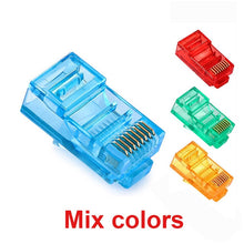 Load image into Gallery viewer, JONSNOW 20/50/100PCS RJ45 Ethernet Cables Module Plug Network Connector RJ-45 Crystal Heads Cat5 Color Cat5e Gold Plated Cable