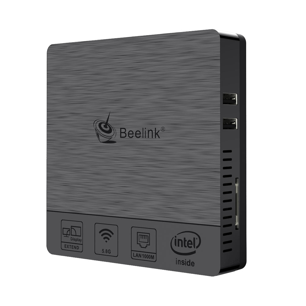Beelink BT3Pro II Mini PC Computer Windows 10 4GB Ram 64GB eMMC Intel Atom x5-Z8350 Multi Media Desktop PC HDMI VGA Dual Display