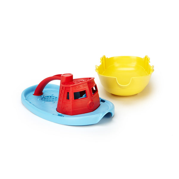 Green Toys - Tug Boat - red