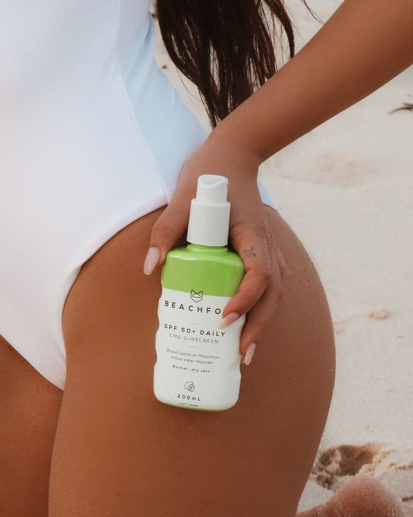 BEACHFOX Invisible Sunscreen - SPF50 200ml - Lime    FROM BONDI - Boatshed 7 The Original Beach Co.