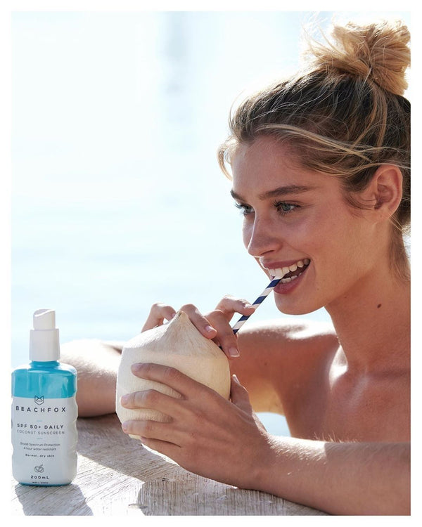 BEACHFOX Invisible Sunscreen - SPF50 200ml - Coconut Scent - Boatshed 7 The Original Beach Co.