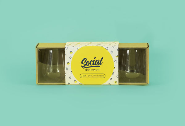 Social Beach Glasses | set of 4 | 470ml
