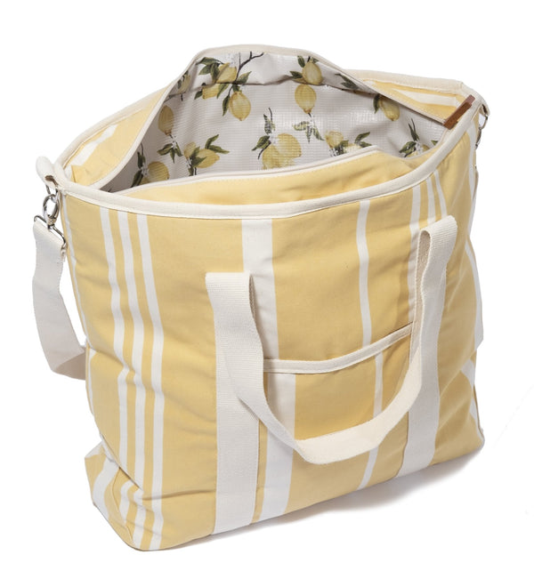 Business & Pleasure - Premium Tote Bag- Cooler - Vintage Yellow