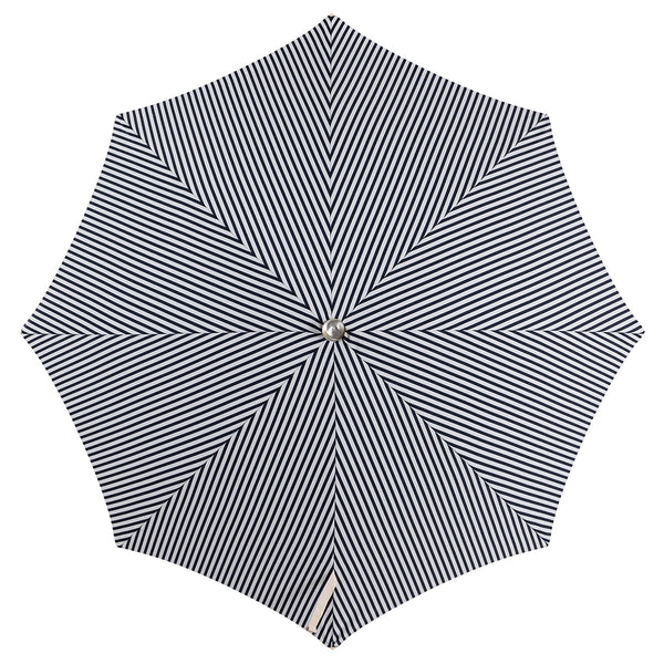 Business & Pleasure - Premium Beach Umbrella - Lauren's Navy Stripe