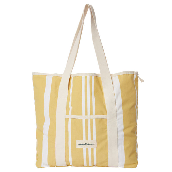 Business & Pleasure - Beach Bag - Vintage Yellow - Boatshed 7 The Original Beach Co.