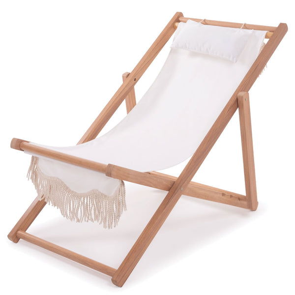 Business & Pleasure - The Sling Chair - Antique White - Boatshed 7 The Original Beach Co.